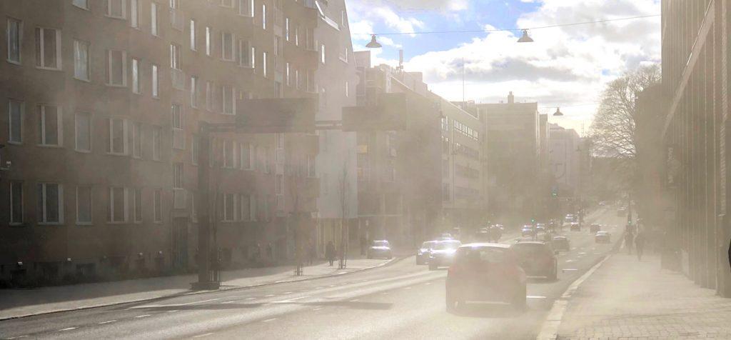 Katupölyä Tampereella