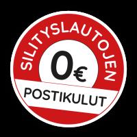 SINI-silityslautojen postikulut 0 €